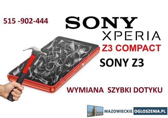 Serwis Sony Xperia Z3 Sony Z3 Compact wymiana szybki dotyku